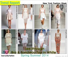See-Through Bra and Bandeau Top in White Fashion #Trend for Spring Summer 2014 #sheer #Spring2014 #Trends #trendy #white