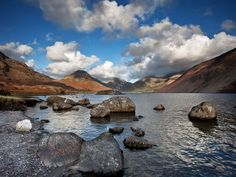 Autumnal Wast Water Autumnal, Landscape Photography, Mountains, Water, Places, Travel, Image, Gripe Water, Viajes