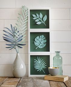 tropical home decor Tropical Home Decor, Tropical Houses, Tropical Furniture, Diy Paper, Paper Art, Paper Crafts, 3d Laser Printer, Do It Yourself Inspiration, Deco Nature
