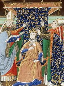 Coronation Henry2 Castile 02 - Category:Chroniques de Froissart - British Library Harley 4379-4380 — Wikimedia Commons