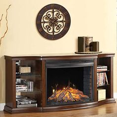 Contessa Cherry Electric Fireplace Entertainment Center   MEF3399CH  Http://www.electricfireplacesdirect.