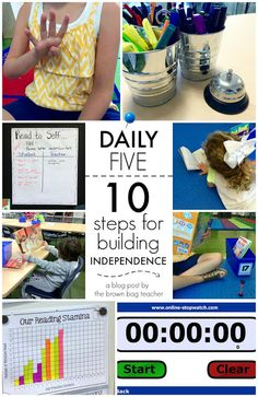 Fabulous blog post about starting with the Daily 5. This post is all about Building Independence!