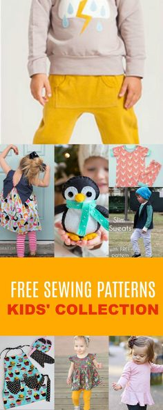FREE SEWING PATTERNS: Kids' Pattern Collection
