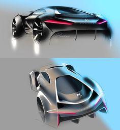 Early stage sketches DS E-Tense #DSMasterpiece #DSAutomobiles #Etense #DSEtense #GT #supercar #electric #cardesign #automotive #design #art #avantgarde #beauty #luxury