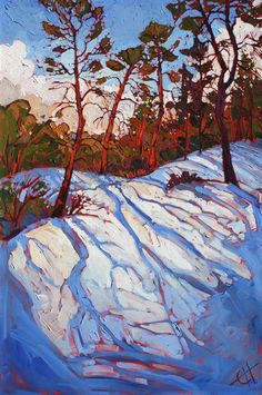 November Zion - Original oil painting by Erin Hanson  November Zion 2013 OIL ON CANVAS by erin hanson 24 x 36 in