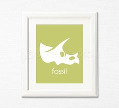 Fossil  8x10  Olive Nursery Art Print  Toddlers by pixelgecko, $14.90