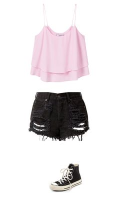 """""""Untitled #501"""" by midna-madeline ❤ liked on Polyvore featuring MANGO and Converse"""