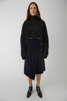 Acne Studios FN-WN-SKIR000012 Navy 375x Winter Wear, Corduroy, Acne Studios 930299e1695