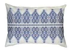 Traditional Cretan Embroidered Textile Blue by CocosNest on Etsy Textile Patterns, Embroidery Patterns, Textiles, Different Patterns, Greek House, Pattern Making, Creative Inspiration, Fiber Art, Embroidery
