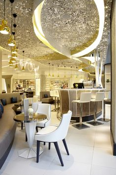Harvey Nichols Beauty Bazaar, Liverpool INTERIOR: Four IV, LIGHTING: Into Lighting #Lighting #Liverpool --> so many things that are amazing about this space.