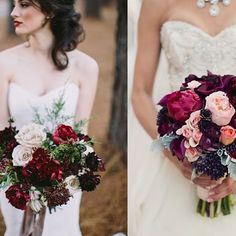 Inspirations with the color of the year 2015 by Pantone: Marsala. ❤️ | www.mysweetengagement.com