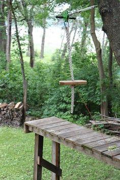 backyard zip line ruggedthug   campinglivezcampinglivez