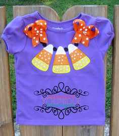Candy Corn Necklace Embroidered Shirt by AYBoutique on Etsy, $22.00