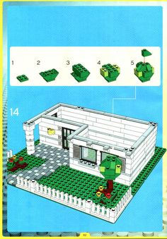 Thousands of complete step-by-step printable older LEGO® instructions for free. Here you can find step by step instructions for most LEGO® sets. Lego Moc, Lego Duplo, Legos, Casa Lego, Modele Lego, Lego Village, Lego Winter, Lego Animals, Lego Craft