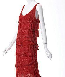 Fashion of the 1920s exhibit at Phoenix Art Museum thru Feb 10, 2013...1925 dress; crystal beads on silk chiffon...