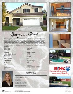 1535 Blush Street, Manteca  3-4 beds and 2.5 baths, over 1900 sqft with pool for $317,900