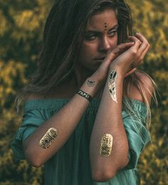 IAMU Collective MIMI Elashiry Metallic Foil Tattoo – IAMU COLLECTIVE