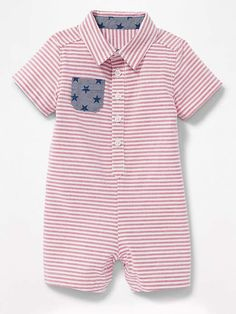 5f9b7328533 Americana Oxford one-piece for baby by Old Navy now on sale. Afflink.
