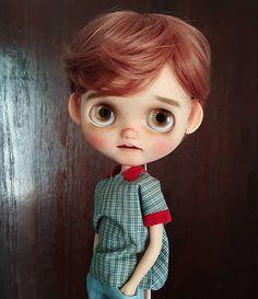 Nice to meet you little boy, Robin. #blythe #blythedoll #blythecustom…