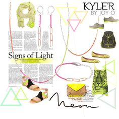 """""""NEON+NEUTRALS DEUX"""" by kylerecojewelry on Polyvore"""