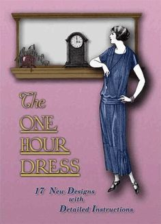 With upcoming Season being 1920s-- Make a FLAPPER dress in 1 Hour Book Great by RumbleSeatCat, $12.95