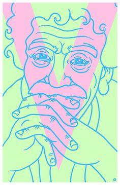 Art print inspired by Kurt Vonnegut