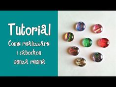 TUTORIAL - COME REALIZZARE I CABOCHON SENZA RESINA ;) - YouTube Resin Crafts, Diy And Crafts, Jewelery, Youtube, Beads, Dyi, Education, Alphabet, Fantasy