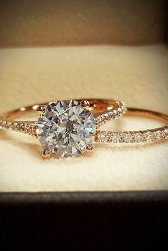 Wedding Ring Sets That Make The Perfect Pair ❤ See more: http://www.weddingforward.com/wedding-ring-sets/ #weddings