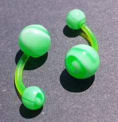 UV reactive body jewelry piercing belly by glassnaturerecycle, $2.95
