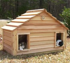 heated shelters for cats | ... Houses for Cats | Wooden Insulated Pet Houses | KatKabin Cat Shelters