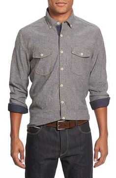 Jeremiah 'Wade' Regular Fit Chambray Sport Shirt available at #Nordstrom