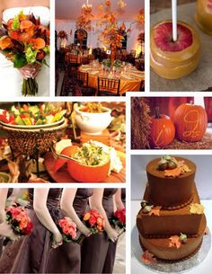 Fall Wedding Inspiration http://www.weddingcolorthemes.com/top-wedding-colors-themes/