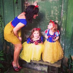 Coordinating Snow White costumes