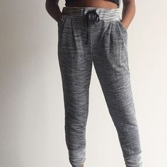 ⚜ Lightweight Knit Joggers Cute joggers with bottom cuff design and drawstring at waist. 💋 Happy Poshing! (x trade) Love Nation Pants Track Pants & Joggers