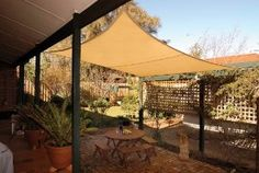 Superb Coolaroo Square Shade Sail 11 Feet 10 Inches With Hardware Kit, Desert Sand