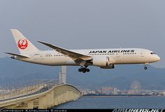 Japan Airlines, B787 Dreamliner.  First carrier to accept the newest Boeing Dreamliner aircraft.  :-)