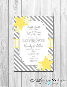 twinkle twinkle little star baby shower invitation - diy printable, Baby shower invitations