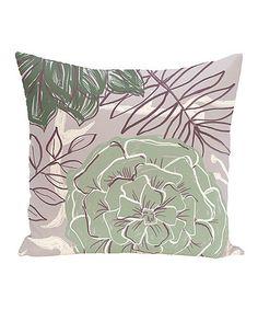 Look what I found on #zulily! Green & Purple Bloom Throw Pillow #zulilyfinds