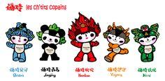 Pékin 2008 - Las Mascotas Olímpicas - 5 ch'tits copains