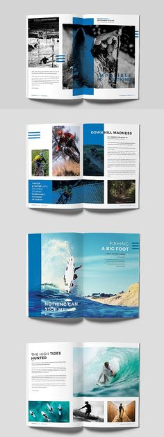 Sports Magazine Template book and magazine design Sports Magazine Paper Magazine, Cereal Magazine, Book And Magazine, Time Magazine, Vogue Magazine, Brochure Layout, Brochure Design, Brochure Template, Indesign Templates