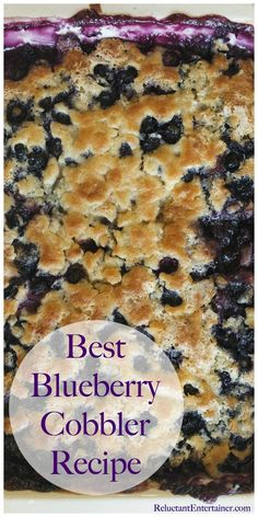 Best Blueberry Cobbler Recipe is a juicy lemon-blueberry dessert. The recipe comes together in 10 minutes. Blueberry Cobler, Blueberry Cobbler Recipes, Frozen Blueberry Recipes, Blueberry Dumplings, Easy Blueberry Desserts, Best Blueberry Recipe, Blackberry Cobbler, Blueberry Bread, Köstliche Desserts