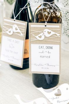 Enhance the wedding wine bottles by unique customized labels. Wedding Wine Labels, Wedding Wine Bottles, Destination Wedding, Wedding Planning, Wedding Isles, Wooden Cake Toppers, Wedding Initials, Drink Labels, Bar Drinks