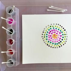 I have a new post about Q-tip pointillism up on the The Artful Parent! We used watercolors for this activity for the first time and it worked amazingly well!! Plus, I included a bunch of different ways you can approach this kind of art activity...