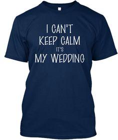 Wedding T Shirt Navy T-Shirt Front