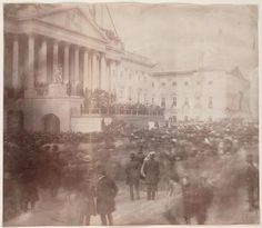 The first-known photo of an inauguration: James Buchanan in 1857, via the Library of Congress