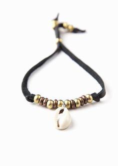 6d52ff4ef3ee8 Sundown Bracelet - Leather Cowrie Shell Bracelet by SoulMakes Bead  Jewellery