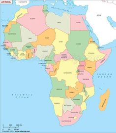 Where is argentina located on the world map argentina pinterest of showing african countries gumiabroncs Choice Image