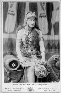 Mrs Langtry as 'Cleopatra'.