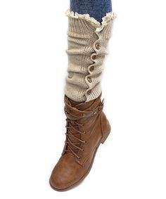 This Natural Button Leg Warmers is perfect! #zulilyfinds  Was$26$ now $8.99