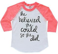 She Believed She Could So She Did Raglan, Pink Baseball Tee, She Believed Raglan, Girls Baseball Tee
